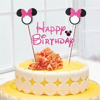 Minnie Mouse Cake Flag Topper