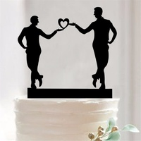 Black Acrylic Mr & Mr Cake Topper