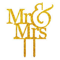 Mr & Mrs Gold Acrylic Topper