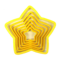 STAR COOKIE CUTTER - 6 PIECE SET