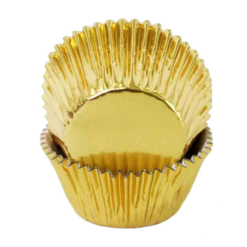FOIL MUFFIN CUPS GOLD - 50 PACK