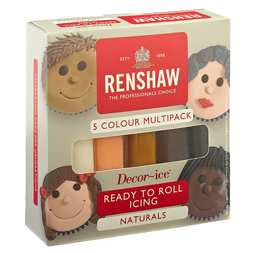 Renshaw Ready To Roll Naturals 5 Colour Pack
