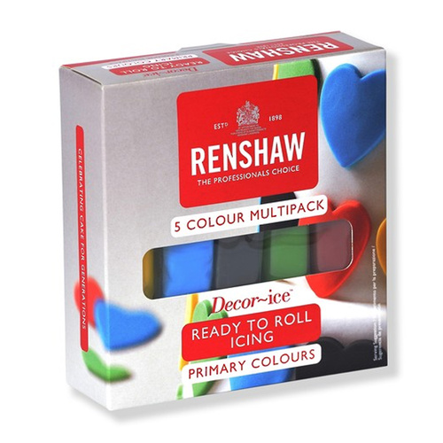 Renshaw Ready To Roll Primary 5 Colour Pack