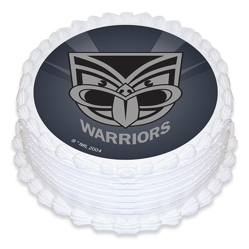 Nrl Warriors Edible Image - Round