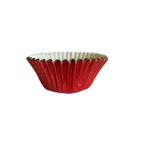 Red Foil Baking Cups 44x30mm