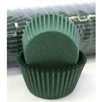 DARK GREEN CUPCAKE BAKING CASES 4.4CM - 500 PACK