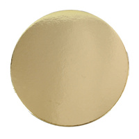 4 Inch Round Dull Gold 2mm Disc