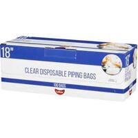 18 Inch Clear Disposable Piping Bag Roll 100 Bags