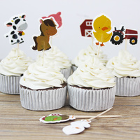 Farm Cupcake Picks 24 Pieces