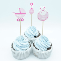 Its A Girl Cupcake Picks 18pcs