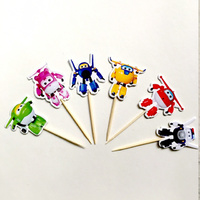 SUPER WINGS CUPCAKE PICKS 24PCS