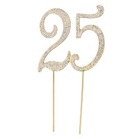 Diamante Cake topper Large Gold 25