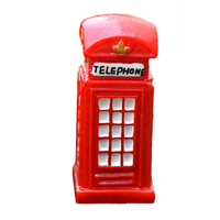 3cm Miniature Telephone Booth