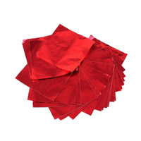 Foil Chocolate Wrap Red 8x8cm Square 100pcs