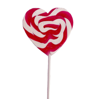 Swirly Pink Heart Lollipop 85 Grams