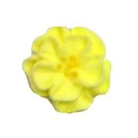Dainty Icing Flowers Yellow 20mm