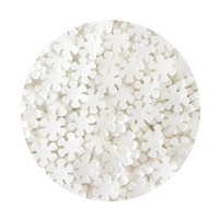 Sprink'd Snow Flakes White 12mm