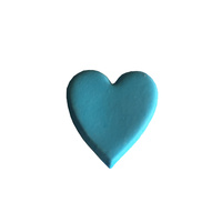 Gumpaste Hearts Medium Blue