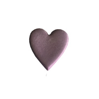 Gumpaste Hearts Medium Purple