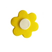 Gumpaste Flat Bright Flower Yellow/White
