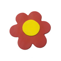 Gumpaste Flat Bright Flower Small Red