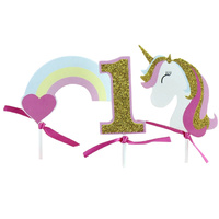 Unicorn Number One Cake Topper