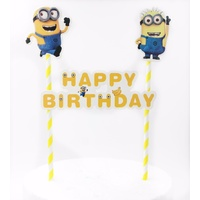 Minion Cake Flag Topper